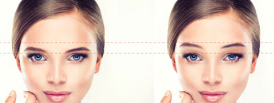Increase balance to the face with the 3D eyebrow paint at Adenaa